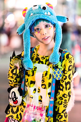Harajuku Monster Hat (tokyofashion) Tags: girl hat fashion monster japan japanese tokyo model colorful style harajuku kawaii superlovers monsterhat streetsnap harukakurebayashi kurebyashi