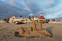 Castles Made of Sand (skipmoore) Tags: beach sand sandiego sandcastle hoteldelcoronado