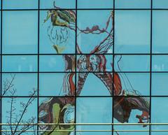 Crane reflections (CLIFFWALKER) Tags: reflections manchester crane lancashire highrise