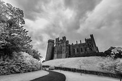 Arundel Castle (code poet) Tags: travel england sky tree castle grass clouds ir 350d westsussex unitedkingdom path infrared 1022mm arundel arundelcastle