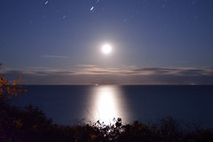 Moonrise over Nauset Beach (dwoodman86) Tags: moon lighthouse night capecod moonrise cape cod nauset