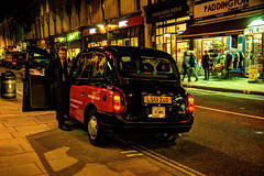 Taxi, Paddington (jaғar ѕнaмeeм) Tags: uk london night taxi paddington