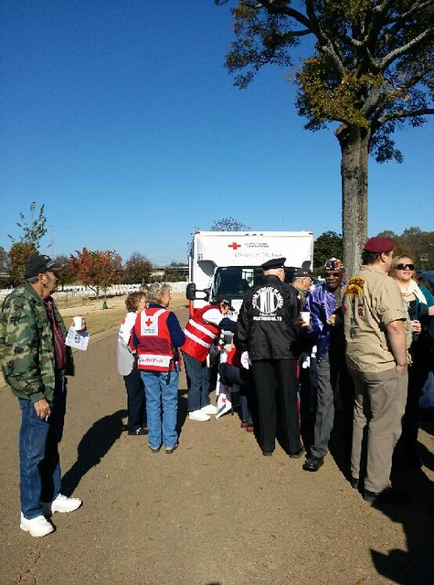 Veterans Day at the VA National Cemerety in Chattanooga