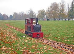 Leaves on the line (Lost-Albion) Tags: oxfordshire miniaturerailway sirwinstonchurchill blenheimplace alankeef