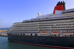 Queen Victoria (oxfordblues84) Tags: cruise vacation sky italy water clouds ship cruising cruiseship cunard queenvictoria ncl norwegianspirit civitavecchia cunardline norwegiancruiseline norwegianspiritcruise