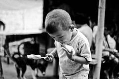 Akha village boy1 (Linh-Huynh) Tags: bw 35mm thailand village rangefinder mai epson tribe chiang akha rd1s