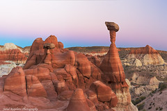 Hilltop Hoodoo (Jared Ropelato) Tags: autumn wild southwest west art fall valleyoffire nature beauty landscape desert pacific outdoor south conservation environmental canyon toad page pacificnorthwest environment sw hoodoo zion wilderness slot stools toadstools pnc conserve antelop 2013 ropelato jaredropelato ropelatophotography