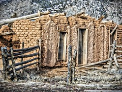 Adobe ruins (≈ ☼ ≈ giamarie≈ ☼ ≈) Tags: newmexico abandoned sunshine ruins gone adobe hdr decayed dilapidated elrito adoberuins