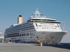 P&O Cruises MV Aurora (Nigel Musgrove-2.5 million views-thank you!) Tags: sunset portugal dusk lisbon victoria queen aurora po cunard cruises mv