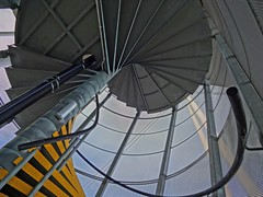 Helical Fire Escape (Jon_Wales) Tags: art college wales spiral fire escape structure staircase newport helix moire helical formandfunction