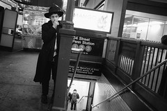 (vytautas ambrazas) Tags: nyc newyork manhattan chanukah hanukah 34thstreet pennstation jewishboy newyorkstreetphotography fujifilmx100s lastdayofchanukah