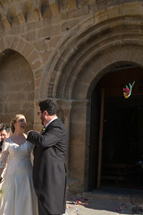 Best of lucks to the newlyweds (JF Sebastian) Tags: wedding portrait church facade groom friend couple dress suit maid dressed carcastillo morethan100visits morethan250visits fujifilmxe11855
