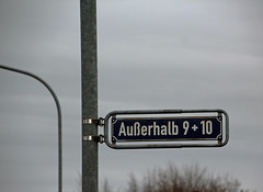 Ghetto. (universaldilletant) Tags: signs schilder sign 10 9 schild egelsbach strasenschild auserhalb