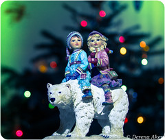 Bokeh Christmas 2013-52 (derena_d.) Tags: christmas decorations white snow beautiful children lights shiny ride bokeh polarbear ornaments northernlights northpole philippullman iorek 2013 byrnison
