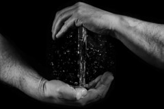 Chi ball (Stokeparker) Tags: blackandwhite water monochrome droplets drops movement hands nikon stre