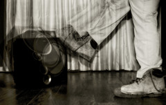 Kick Out the Jams (basselal) Tags: bw music monochrome self lyrics legs boots song speaker curtains mc5 subwoofer 30mm 100xthe2014edition 100x2014 image1100