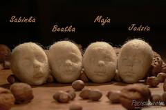 Four small rag dolls - in progress (RGAdolls) Tags: miniature o handmade ooak poland felt artdoll collectibles softdoll puppen waldorfdoll humanfigure clothdolls waldorfdolls waldorfpuppe stoffpuppe pocieszanka chldfriendly