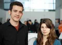 Viktor Delev (MK / AT) and Joanna Gruberska (PL) (Ars Electronica) Tags: linz austria timeout anatta arselectronicacenter viktordelev timebasedandinteractivemedia artuniversitylinz joannagruberska