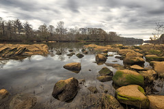 Tallapoosa River Rocks (Tallassee, Alabama) (cglphoto) Tags: county old bridge trees mill ex water canon river flow moss rocks angle dam alabama wide sigma rapids shore nd sns flowing algae 1020mm tone hdr tallassee density mapped thurlow neutral elmore tallapoosa nd4 hsm 60d snshdr