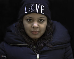 love on black (zilverbat.) Tags: portrait people black girl canon project dark young streetphotography innercity 40mm passage portret thehague straatfotografie zilverbat peopleonblack humansofthehague canonpancakeef40mmf28stm