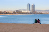 Twoness in Barcelona (Patberg) Tags: barcelona beach couple portolympic
