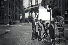 """lights, camera, action!"" - Brooklyn, New York City (Nico Geerlings) Tags: leica city nyc newyorkcity people blackandwhite bw usa ny newyork monochrome brooklyn 35mm movie photography mono town us candid dumbo rangefinder summicron manhattanbridge filming reallife washingtonstreet humancondition streetstreet blackandwhitephotos dumbobrooklyn commercialshooting dumbonyc blackwhitephotos nicogeerlings leicammonochrom"