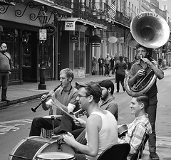 New Orleans - Members of Tuba Skinny (Krasivaya Liza) Tags: streets festive louisiana south neworleans southern nola nola2104