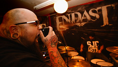 Vocals For Endast, Big James Arsenian (Not Your Photography) Tags: chris bw ontario canada metal drunk photoshop drums james big shoot beers ryan montreal live steve band guitars scene tokina miller pepe dudes drummers vocals godin jagermeister poliquin 1116 endast 1116mm arsenian sk8n9494 johnfraserlandry notyourphotography harlall