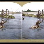 RIVER BOYS FISHING THROUGH GLASS-BOTTOMED BOXES thumbnail