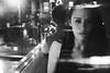 girl in restaurant (gorbot.) Tags: portrait blackandwhite restaurant cafe glasgow westend roberta m43 cafezique silverefex micro43 microfourthirds panasoniclumixgf1 20mmlumixf17