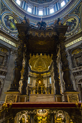 Inside St. Peters (Rudy Chiarello) Tags: italy vatican rome tourism church architecture cathedral basilica cupola catholicchurch ceilings stpetersbasilica vaticancity chiarello rudychiarello