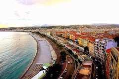 View of Promenade Des Anglais from Castle