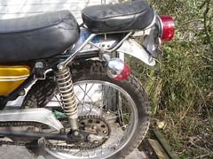 buddy seat (Nicola_R) Tags: new york classic bike vintage project bristol japanese 1971 motorbike trail motorcycle yamaha restored restoration 175 enduro scrambler ct1 trailbike scambler vjmc ct1c