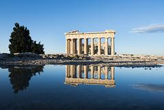 GREECE (BoazImages) Tags: travel reflection monument greek mirror athens parthenon greece acropolis boazimages