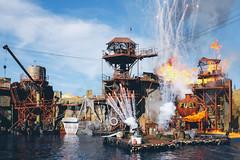 fuel (Conor F. Shine) Tags: public fire losangeles explosion hollywood universalstudios valentinesday waterworld stuntshow vsco x100t
