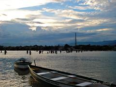 DULNAS - GUARDA  DO EMBAÚ - PALHOÇA - SC - BRASIL (Dulce Nassif) Tags: sunset sea sky brasil boats mar barcos silhuetas