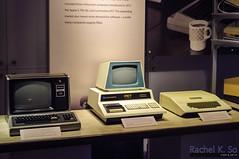 Tandy TRS-80, Commodore PET, and Apple II, Computer History Museum, Mountain View (InSapphoWeTrust) Tags: sanfrancisco california usa unitedstates unitedstatesofamerica bayarea northamerica siliconvalley mountainview computerhistorymuseum