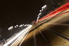 Trafic urbain  Bordeaux (Ronsaintec) Tags: longexposure color night canon bordeaux nuit longueexposition paysageurbain canon600d canoneos600d
