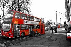 """London City Life"" (giannipaoloziliani) Tags: road street red england people urban color bus london digital lights graphics shadows united kingdom double stop editing londra tipical elaboration digitalgraphics"