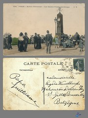 PARIS - Buttes Chaumont - Les Quatre Points Cardinaux (bDom) Tags: paris 1900 oldpostcard cartepostale bdom