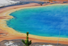 Grand Prismatic Spring (mike_jacobson1616) Tags: park nature wonder outdoors fire nationalpark spring scenery colorful natural scenic icon basin springs yellowstonenationalpark yellowstone features wyoming geyser iconic geothermal eruption grandprismaticspring grandprismatic midwaygeyserbasin viewfromthehill prismaticspring