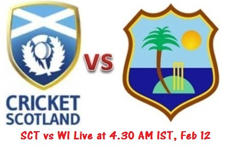 Scotland vs West Indies World Cup Warm Up Match 12 Feb 2015