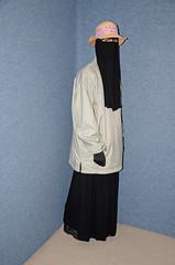 Niqab and Anorak (Buses,Trains and Fetish) Tags: girl warm hijab sweat fleece niqab anorak slave burka chador