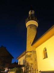 Minaret lit at dusk, Novi Pazar, Serbia (Paul McClure DC) Tags: architecture minaret serbia mosque historic balkans novipazar raka sandak may2016