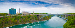 Rainbow Bridge Niagara Falls (_Hrushi) Tags: bridge usa mist ny canada tower water observation point rainbow outdoor niagara falls maid prospect