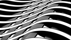 Relax In The City Redux - London Architecture (On Explore 11th May 2016) (Simon & His Camera) Tags: city urban blackandwhite white abstract black building london geometric window glass monochrome lines architecture contrast pattern outdoor symmetry diagonal explore curve simonandhiscamera