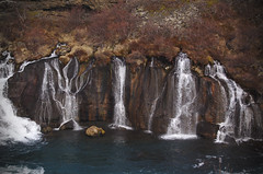 Hraunfossar (JimLeach89) Tags: travel holiday snow nature digital rural landscape outside outdoors countryside iceland nikon scenery exterior view natural dslr d40 nikond40 d40x d40d40x