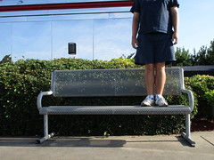 Bench Monday: Dennys Edition (pikespice) Tags: headless bench geotagged geotag decapitated hbm sooc 10millionphotos benchmonday