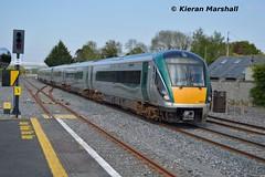 22051+220xx arrive at Hazelhatch and Celbridge, 16/5/16 (hurricanemk1c) Tags: irish train rail railway trains hatch railways irishrail rok rotem 2016 icr iarnrd 22000 22051 ireann iarnrdireann 3pce 1640heustonwaterford hazelhatchandcelbridge