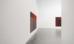 Squareness (E) (Panda1339) Tags: uk light red abstract london art architecture gallery newportgallery